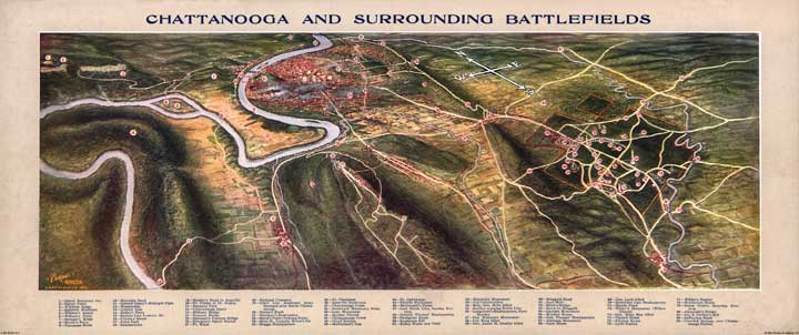 Chattanooga and Surrounding Battlefields