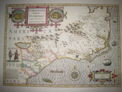 USA: Southern: Map: The American Southeast in 1606