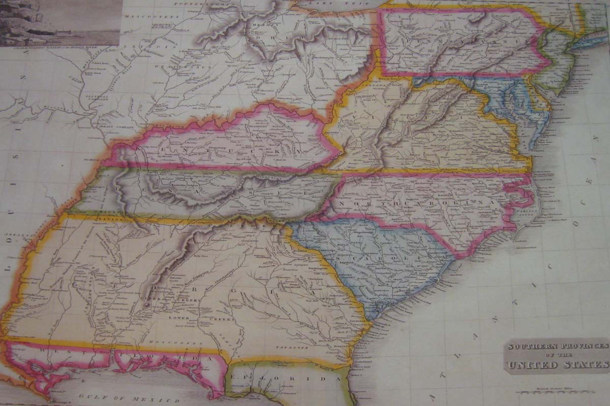 USA: Southern: Map: The South: 1817