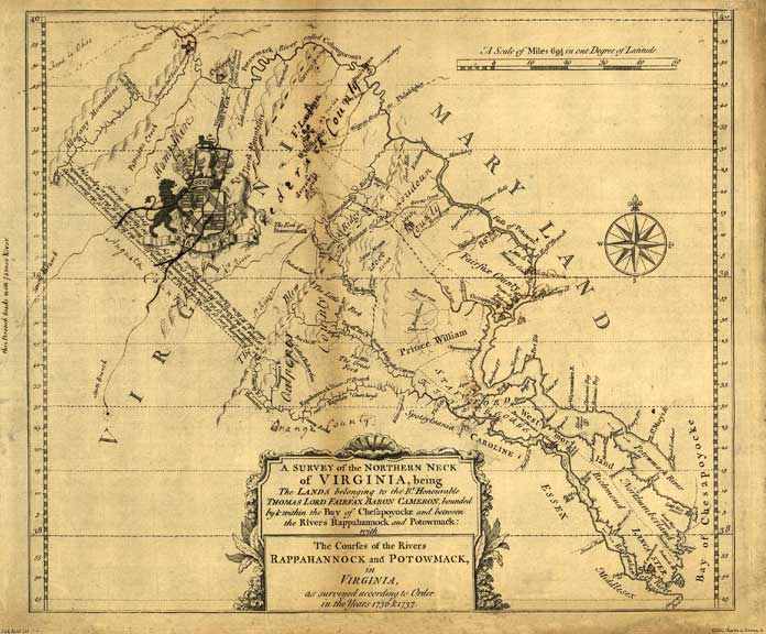 A Survey of the Northern Neck of Virginia 1747